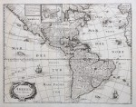 Merian's finely engraved map of America