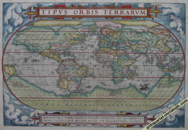 Ortelius's world map in 1st state