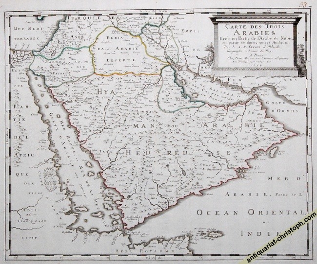 Early French map of the peninsula