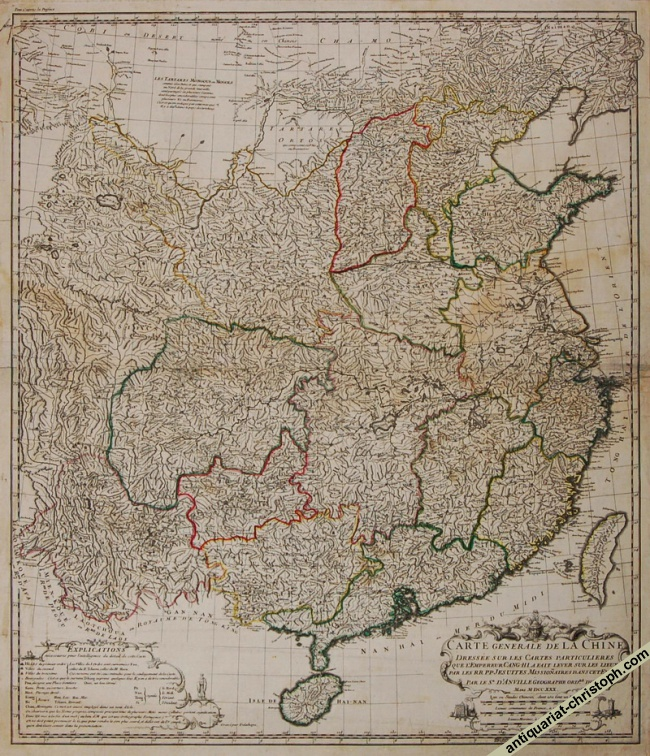 1st state of d'Anville's map of China