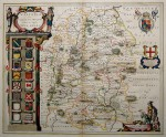 Blaeu's map in shining orig. colour