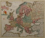 18th c. map in full original colour