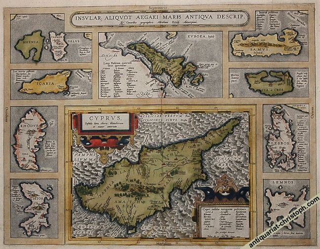Ortelius's map in original colour